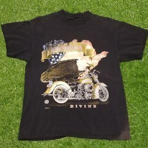 Vintage 1996 Harley Davidson Divine 3D Tee